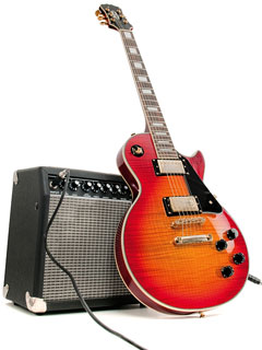 electric guitar and guitar amp